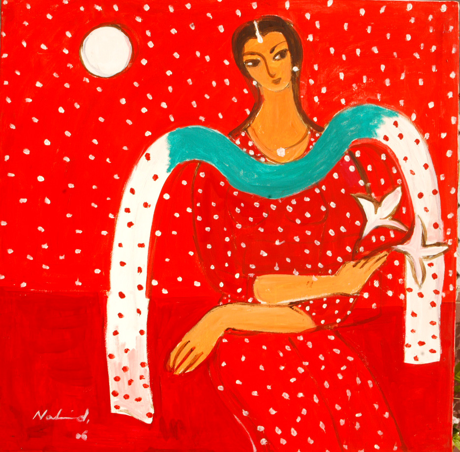 Moon and Woman 2 by Nahid Raza