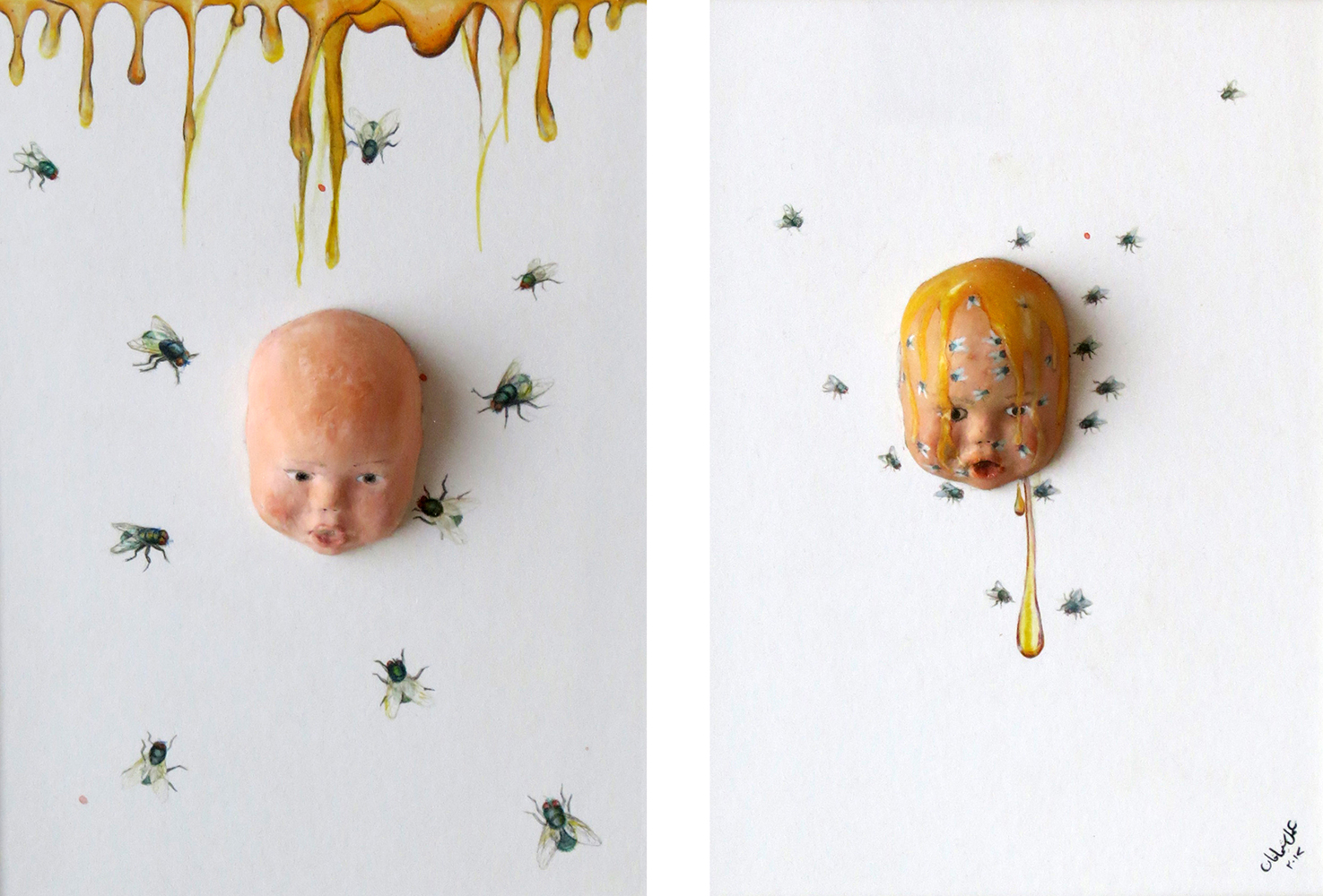 Baby on Board (diptych) by Sheema Khan