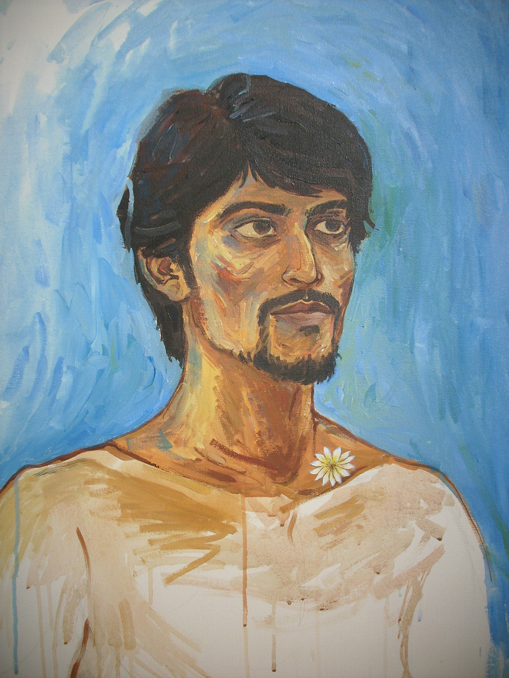 Self Portrait by S.M. Raza