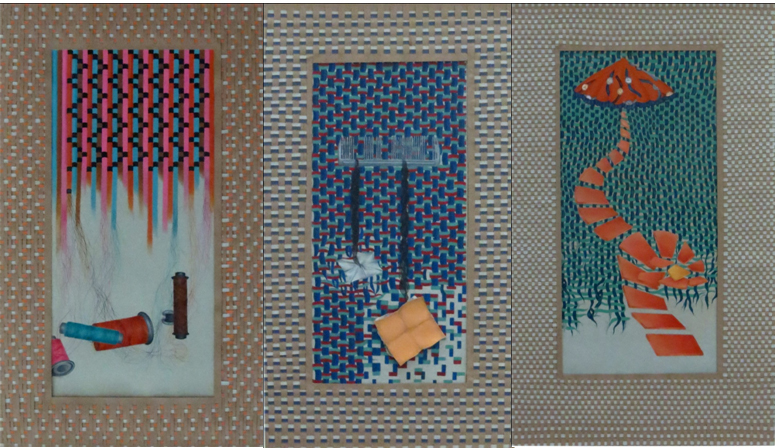 Weaving my story (Triptych) by Fatima Shakil